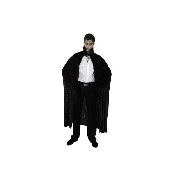 Cape avec col vampire velours noir 140cm