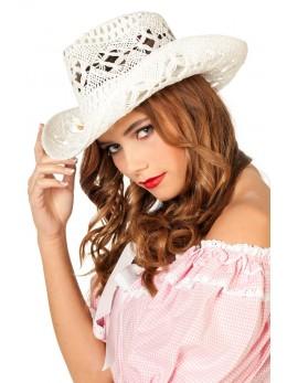 Chapeau de cowboy dentelle coton