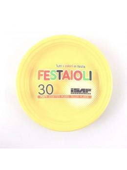 30 Assiettes plastiques rondes 22cm ivoire