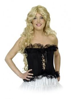 corset noir dentelle