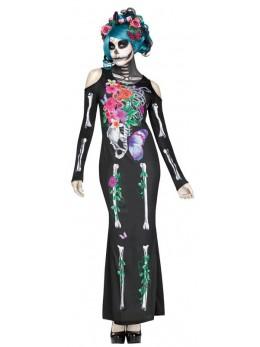 Déguisement lady squelette mexicaine