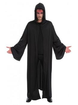 Déguisement cape prêtre satanique noir