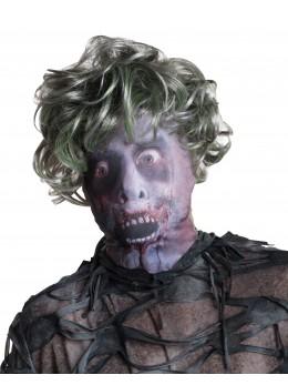 cagoule zombie avec cheveux