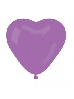 ballon coeur lavande