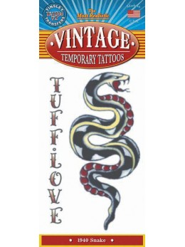 tatouage temporaire motif serpent