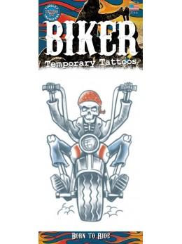 planche tatouage temporaire biker américain