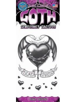 tatouage temporaire gothique coeur brisé