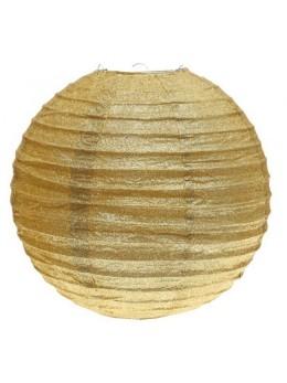 Lanterne pailletée or 30 cm