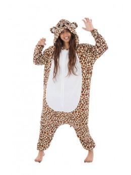 Déguisement kigurumi léopard