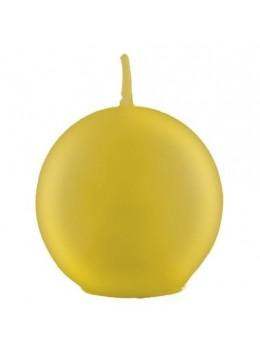 Bougie boule or métal 7.5cm