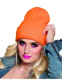 Bonnet fluo orange
