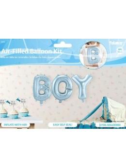 "Ballon lettre ""Boy"" bleu ciel"