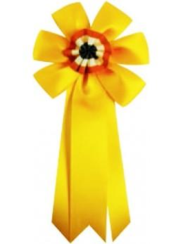 Cocarde conscrit luxe jaune