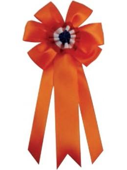 Cocarde conscrit luxe orange