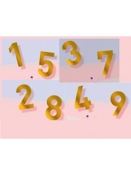 chiffre doré adhésif pour cocarde