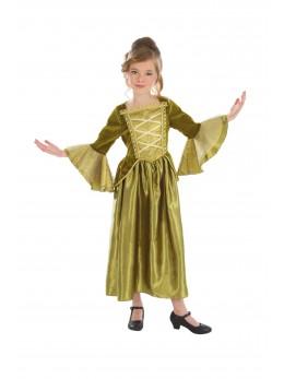 Déguisement robe princesse royale verte