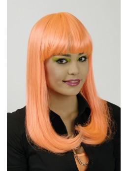 perruque lola orange fluo