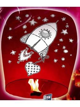 lanterne volante avec message