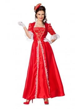 Déguisement marquise femme rouge