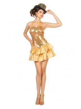 déguisement femme disco or