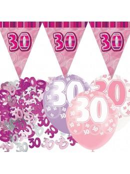 Kit anniversaire fuchsia 30 ans