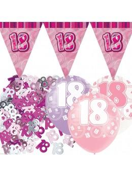 Kit anniversaire fuchsia 18 ans