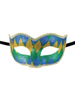 Masque loup vénitien arlequin