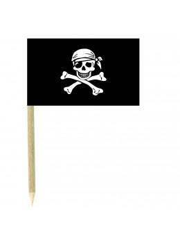 50 Mini drapeaux luxe Pirate