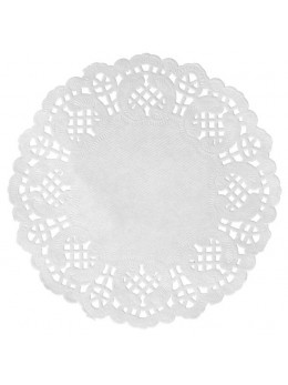 10 set de table dentelle 35cm blanc