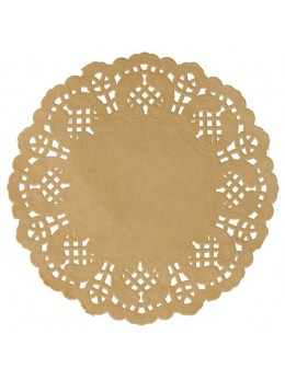 10 set de table papier dentelle 35cm kraft