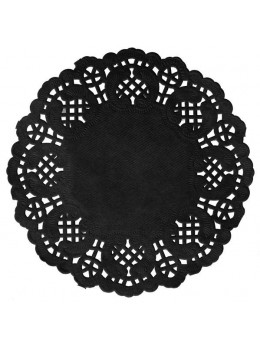 10 set de table papier dentelle 35cm noir