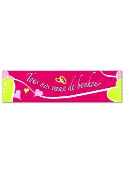 """Bannière """"Tous nos voeux de bonheur"""""""