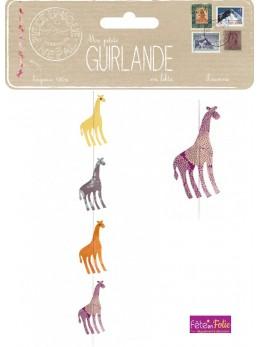 Guirlande girafe en lokta