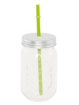 Jar en verre avec paille verte