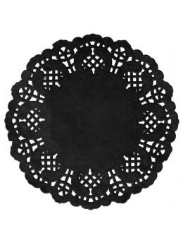 10 sous verre dentelle noir