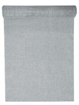 Chemin de table polylin gris argent