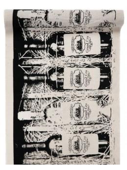 Chemin de table coton thème viticole