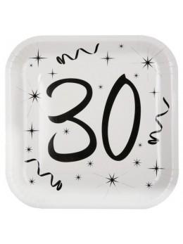 10 assiettes carton anniversaire 30 ans