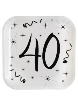 10 assiettes carton anniversaire 40 ans