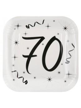 10 assiettes carton anniversaire 70 ans