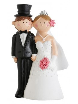 Figurine couple mariés Mr and Mrs