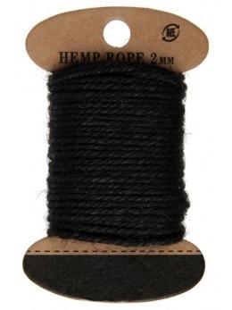 Cordelette coton noire 10m