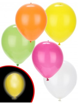 ballons led multicolores