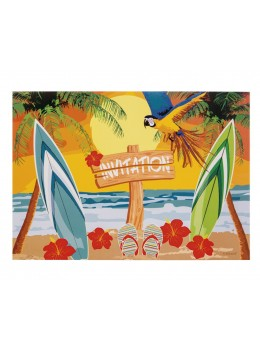 6 Invitations soirée hawai