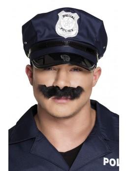Moustache policier noir