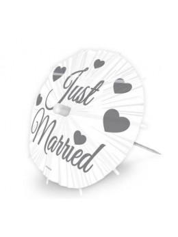 8 ombrelles de table just married