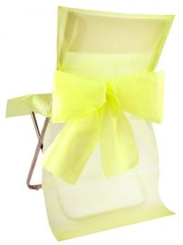 10 Housses de chaise jaune avec noeuds