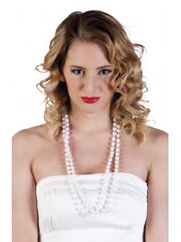 Set 2 Colliers de perles blanches
