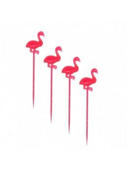 24 flamants rose sur pic 8 cm