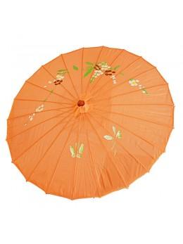 Ombrelle chinoise en tissu orange